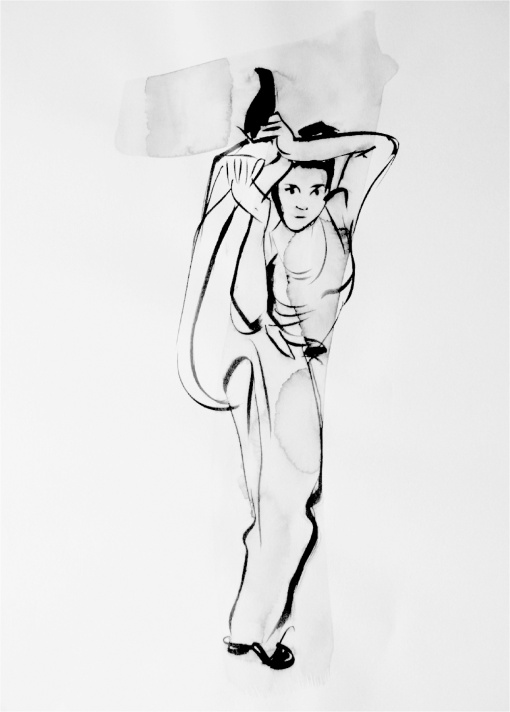 """Paulina in Motion,"" Sketch by Philippine National Artist Benedicto ""Bencab"" Cabrera, 2006"